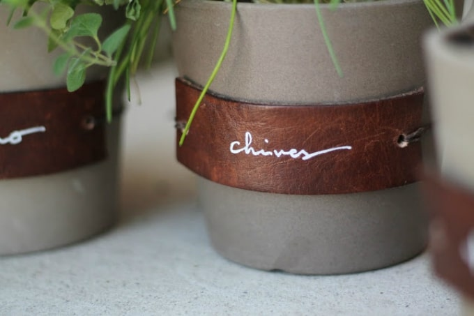 leather plant labels