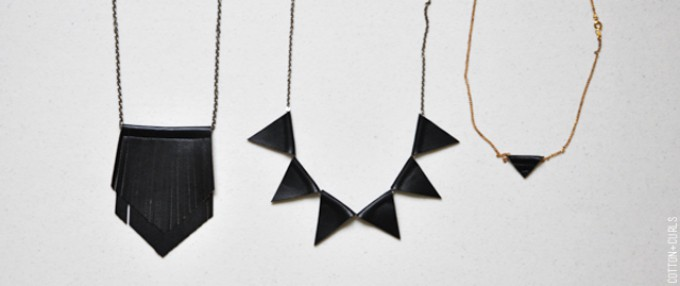 DIY leather necklace ideas