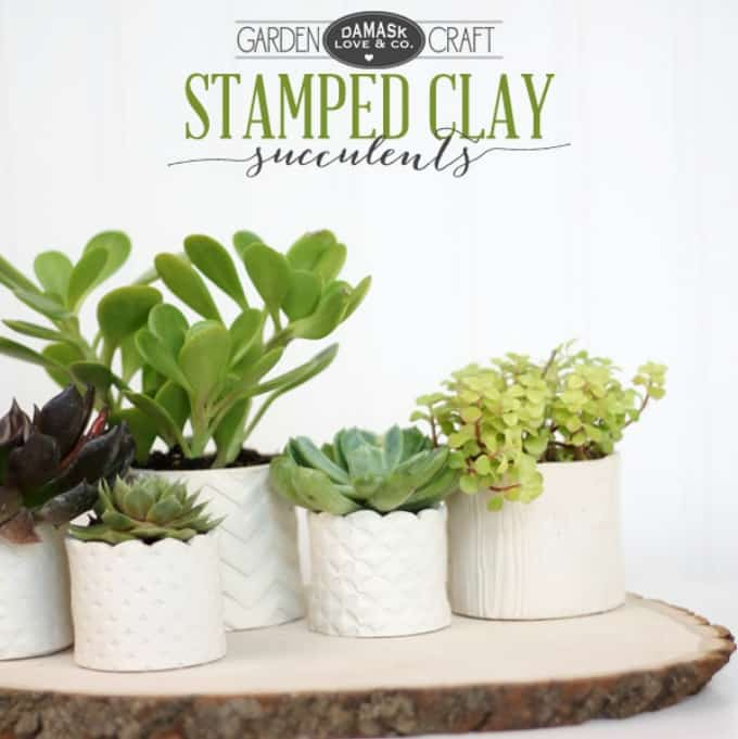 stamped clay pots