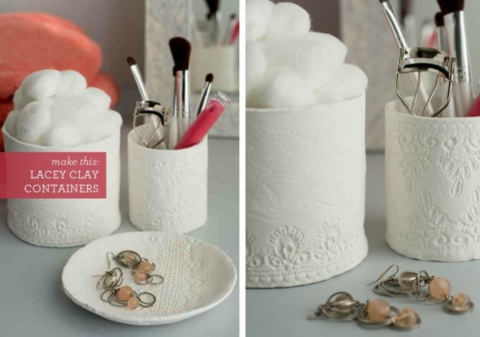 lacey clay containers