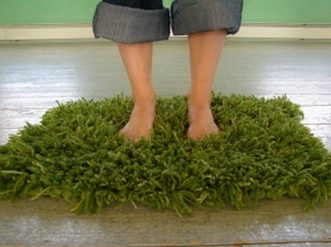 grass crochet rug