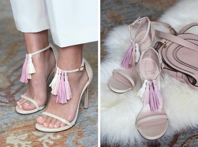 leather tassel sandals