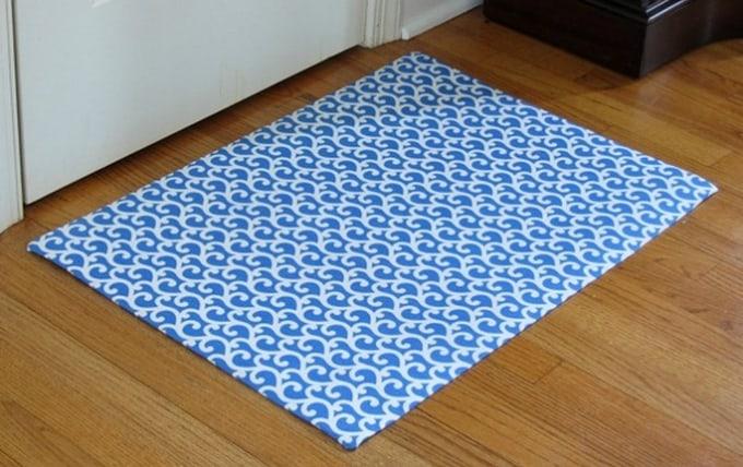 diy fabric rug