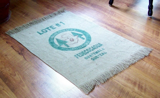 coffee bag rug