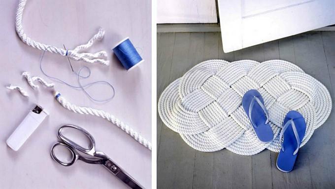 braided door mat