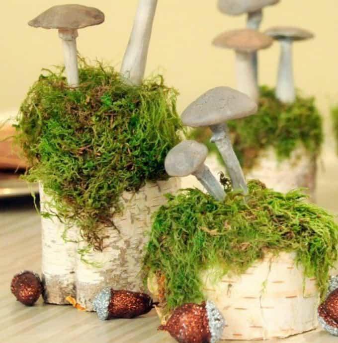 mushroom table decorations
