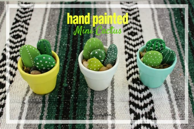 painted mini cactus