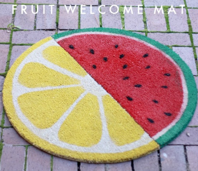 fruit welcome mat