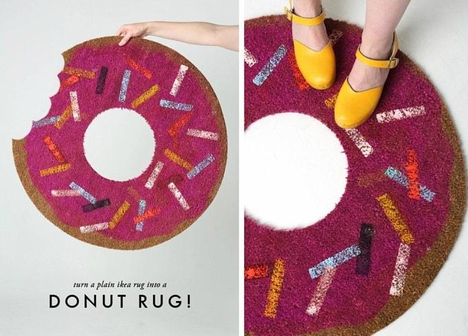 diy donut rug
