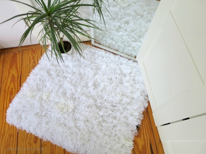 shaggy tassel yarn rug