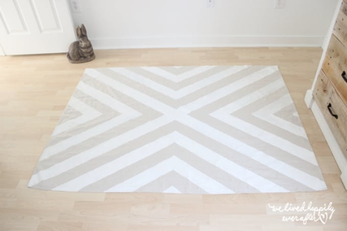 painted cloth rug