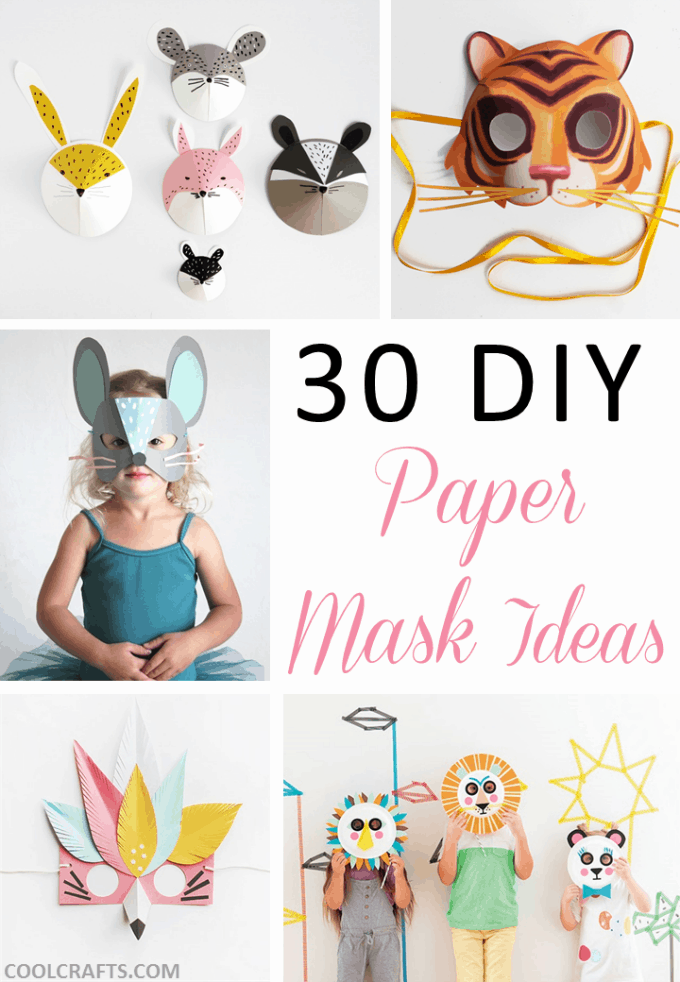 30 DIY Paper Mask Design Ideas O Cool Crafts
