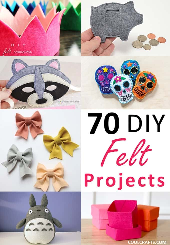 Felt Craft Projects 70 Diy Ideas Made With Felt Cool Crafts