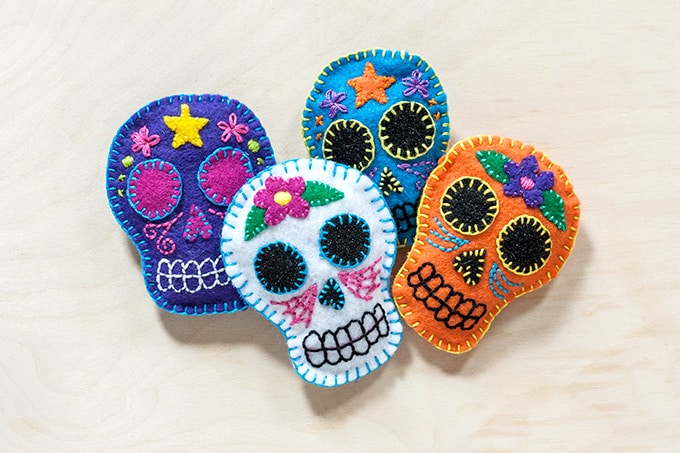 Cinco de Mayo inspired skulls