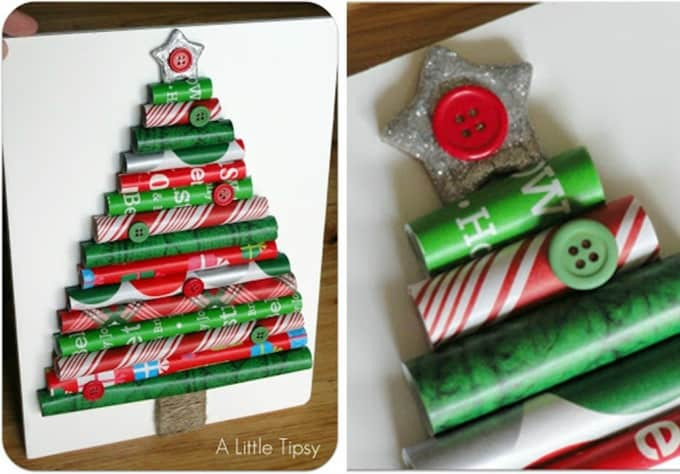 rolls of christmas paper - Unique Christmas Tree Ideas