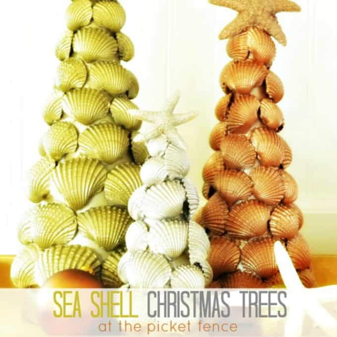 sea shell christmas trees