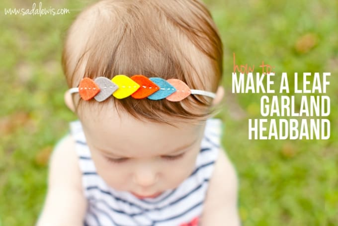 leaf garland headband