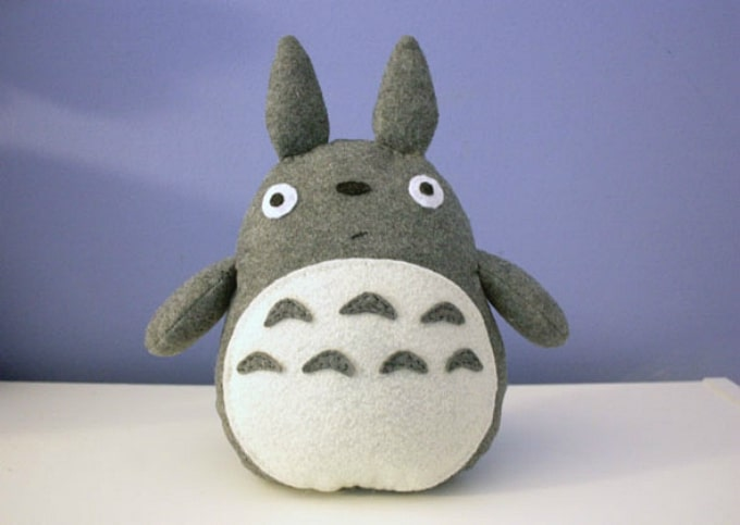 felt Totoro plushie