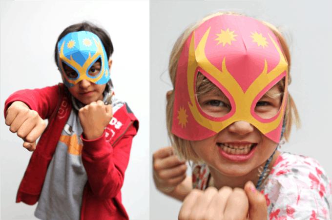 paper lucha libre mask
