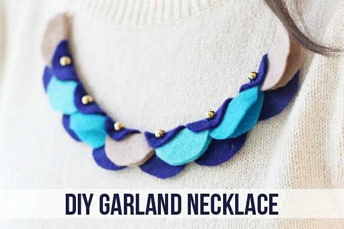felt garland necklace