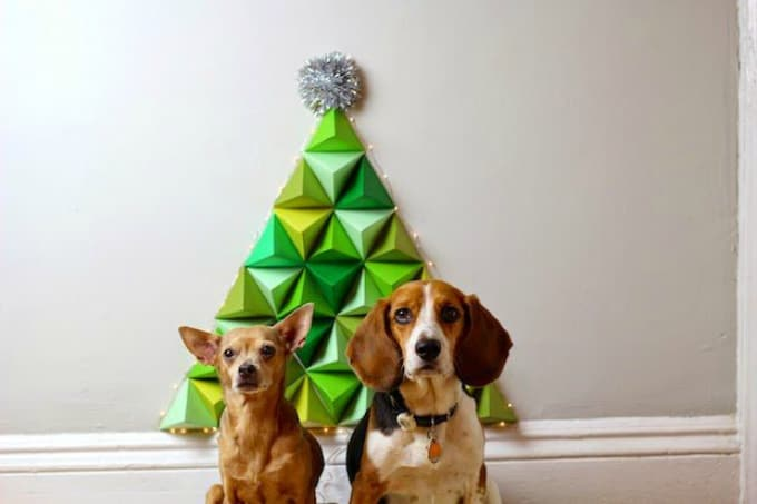 geometric paper christmas tree