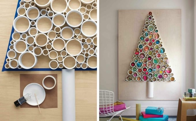 pvc pipe christmas tree now this idea from martha stewart