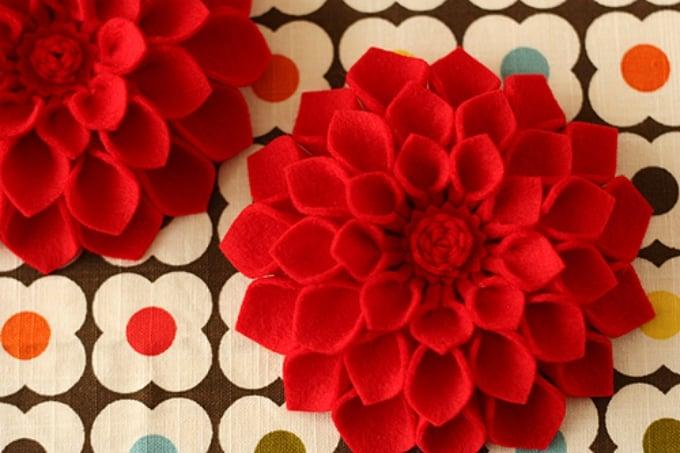 felt flower project