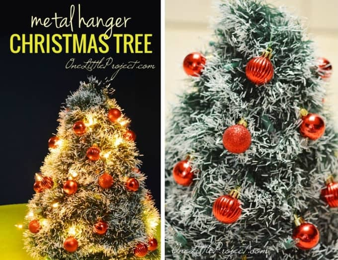 metal hanger christmas tree