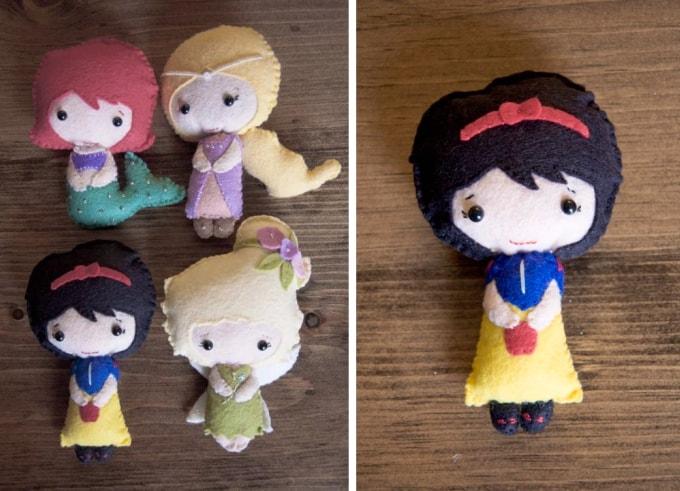 felt disney dolls