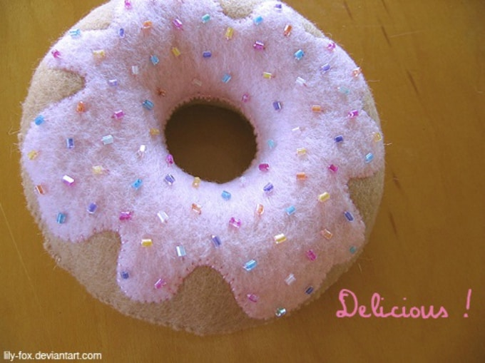 felt donut