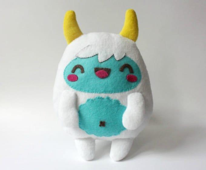 felt yeti monster
