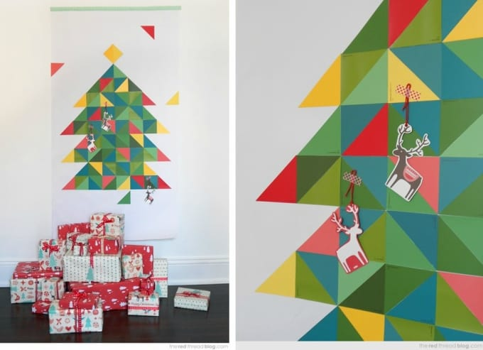 geometric paint chip Christmas tree