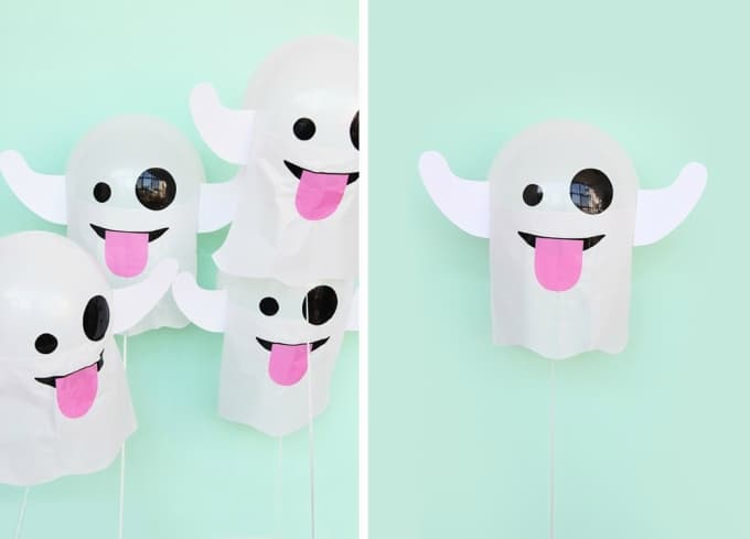 emoji ghost balloons