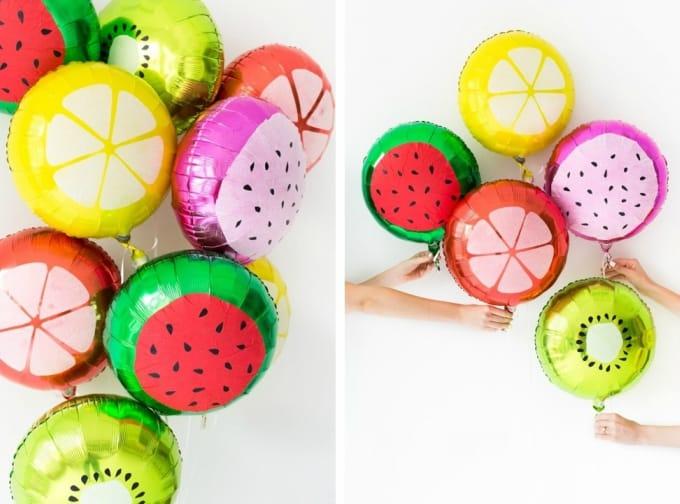 fruit slice balloons