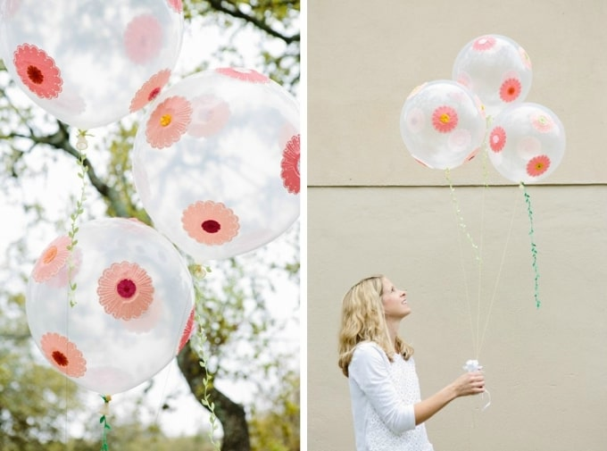 flowers balloons