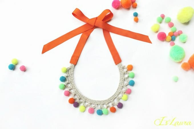 pom pom collar necklace