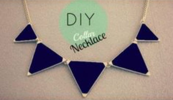 triangular collar necklace