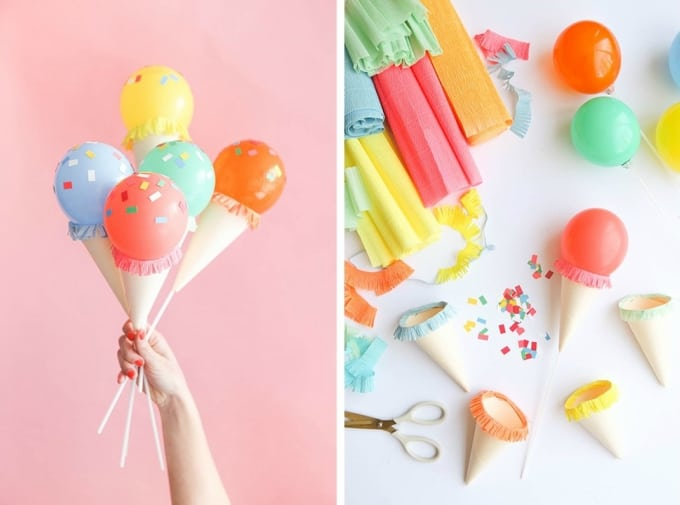 balloon ice cream cones