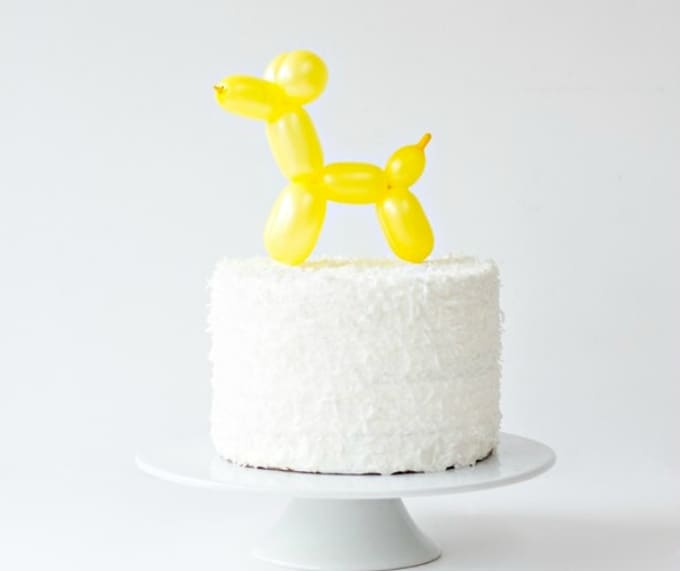 balloon dog cake topper