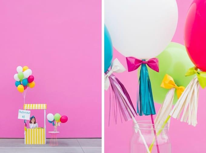 DIY balloon booth