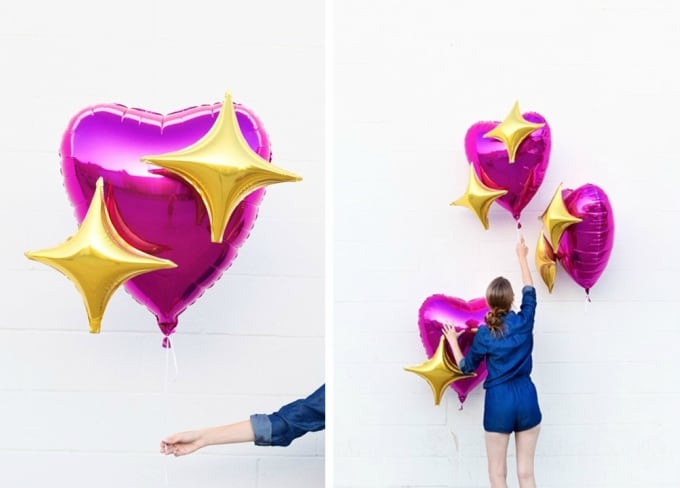 emoji heart balloons