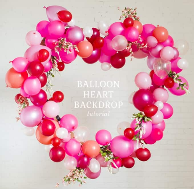 heart balloon backdrop