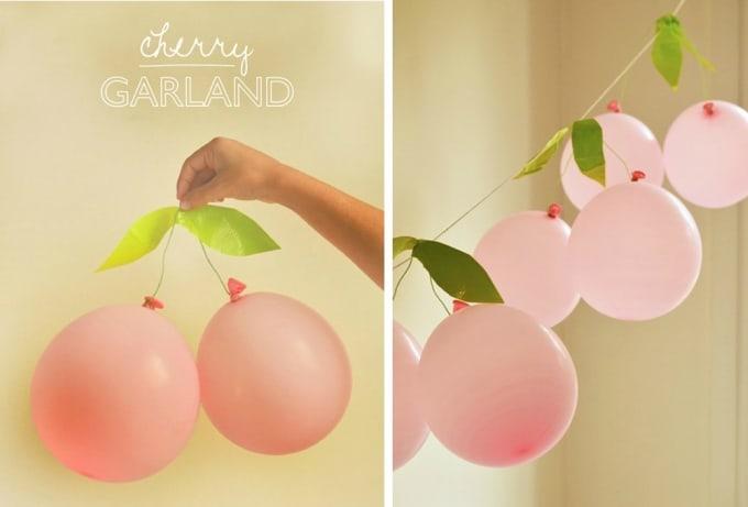balloon cherry garland