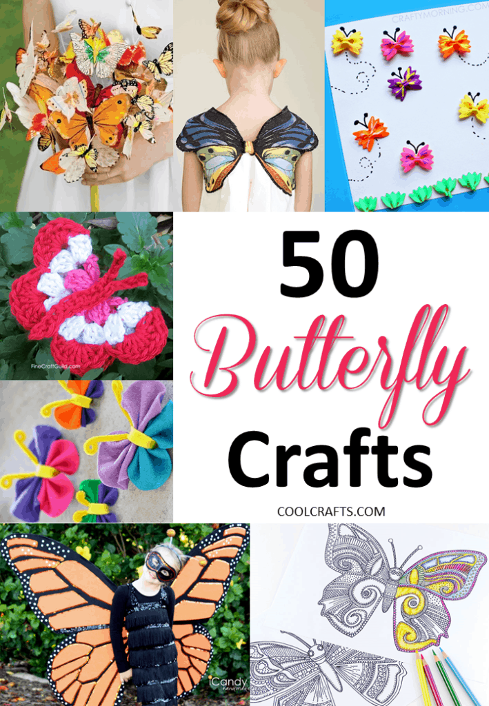 50 Butterfly Crafts You Can Do With Your Kids