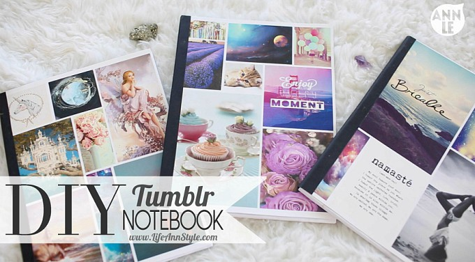 diy Tumblr-inspired notebooks