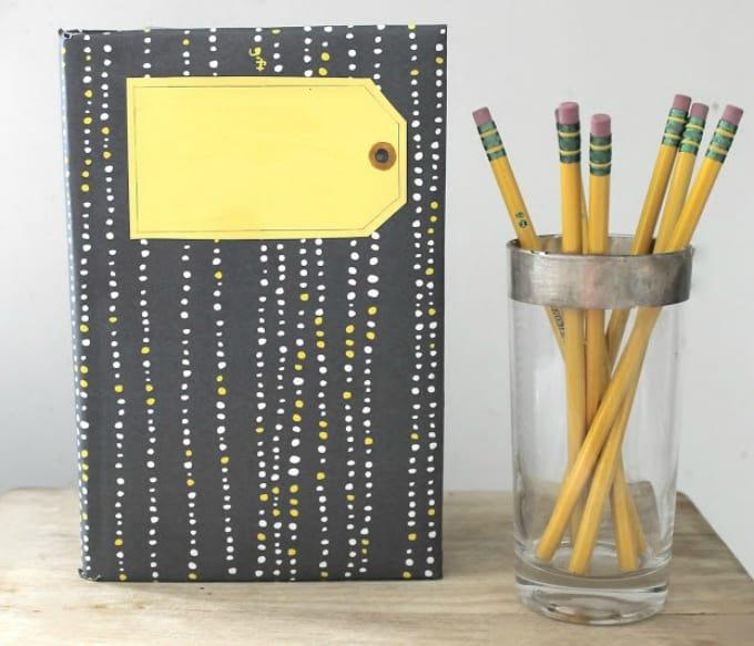 Anthropologie inspired DIY notebook