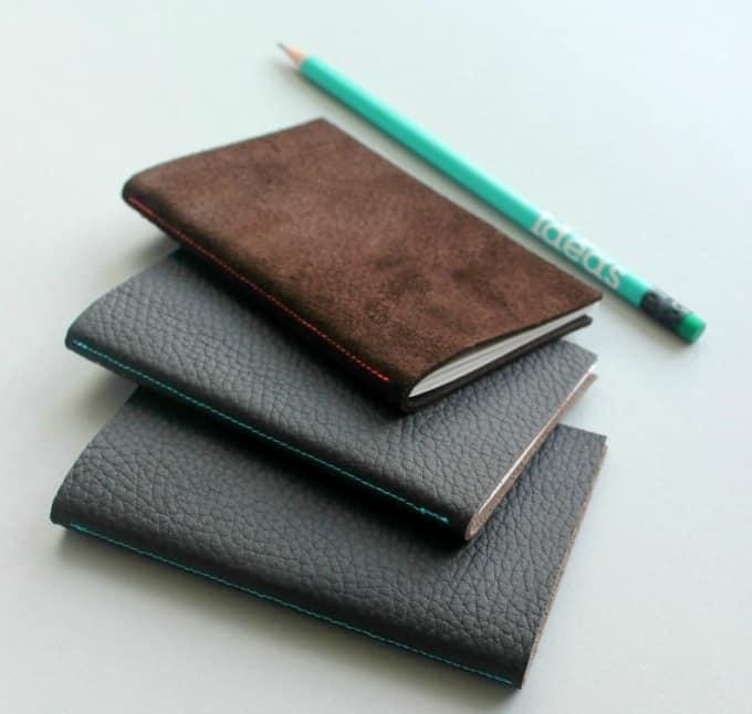 mini Leather notebooks