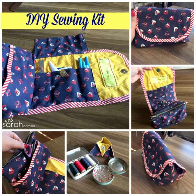 portable sewing kit caddy