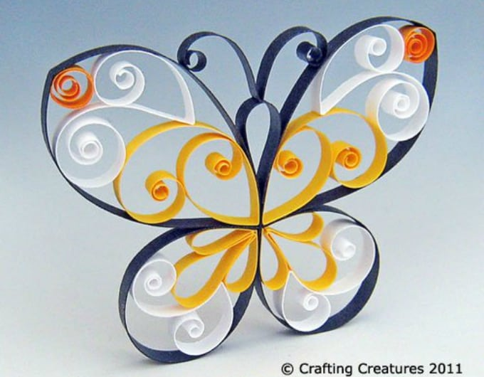 butterfly quilling pattern tutorial
