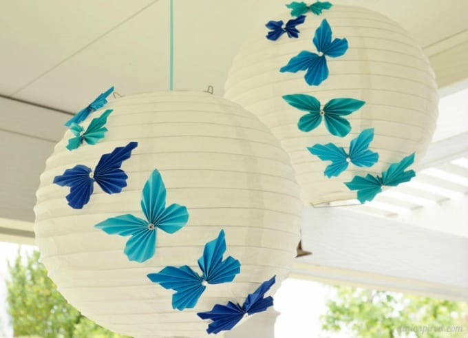 accordion paper butterflies